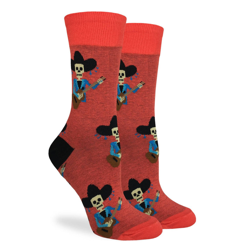 Women's Mariachi Skeleton Socks
