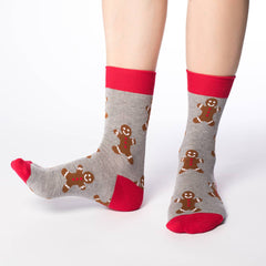 Women's Gingerbread Men Socks - Good Luck Sock