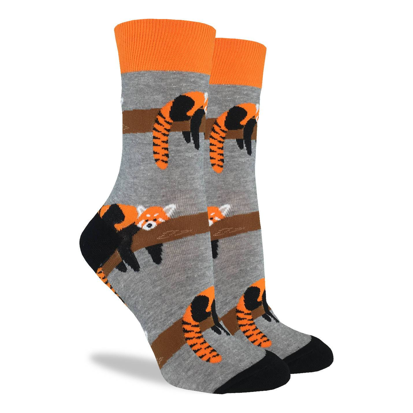 Women's Red Panda Socks - Good Luck Sock