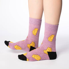 Women's Cheese Socks - Good Luck Sock