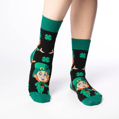 Women's Leprechaun Socks - Good Luck Sock