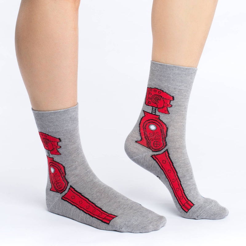 Women's Rock 'em Sock 'em Robot Socks