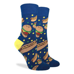 Women's Burgers & Hotdogs Socks - Good Luck Sock