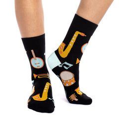 Women's Musical Instruments Socks - Good Luck Sock