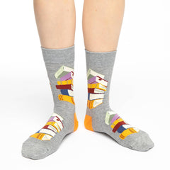 Women's Stack of Books Socks - Good Luck Sock