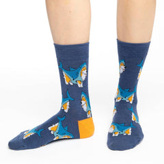 Women's Corgi Sharks Socks - Good Luck Sock