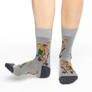 Women's Hiking Moose Socks