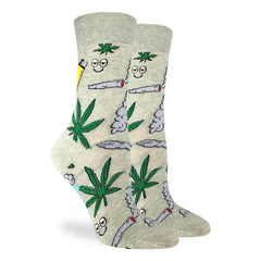 Women's Stoned Marijuana Socks - Good Luck Sock