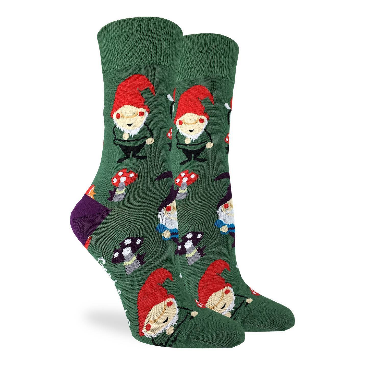 Women's Lawn Gnomes Socks - Good Luck Sock