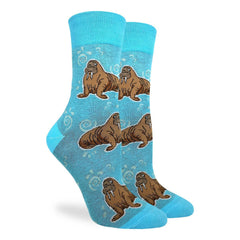 Women's Walrus Socks - Good Luck Sock
