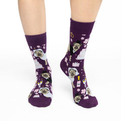 Women's Wedding Pugs Socks - Good Luck Sock