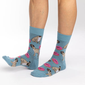 Women's Pugs and Donuts Socks