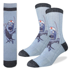 Men's Samurai Sushi Socks - Good Luck Sock