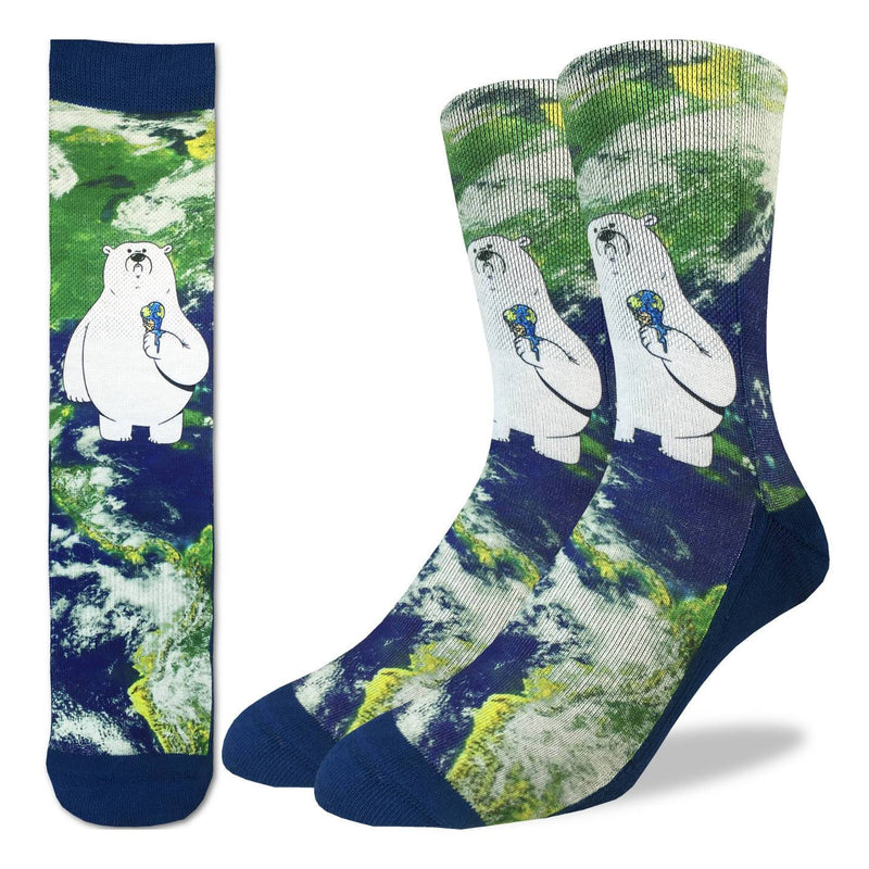 Men's Global Warming Polar Bear Socks