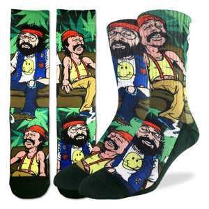 Men's Cheech & Chong on Couch Socks