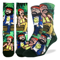 Men's Cheech & Chong on Couch Socks - Good Luck Sock