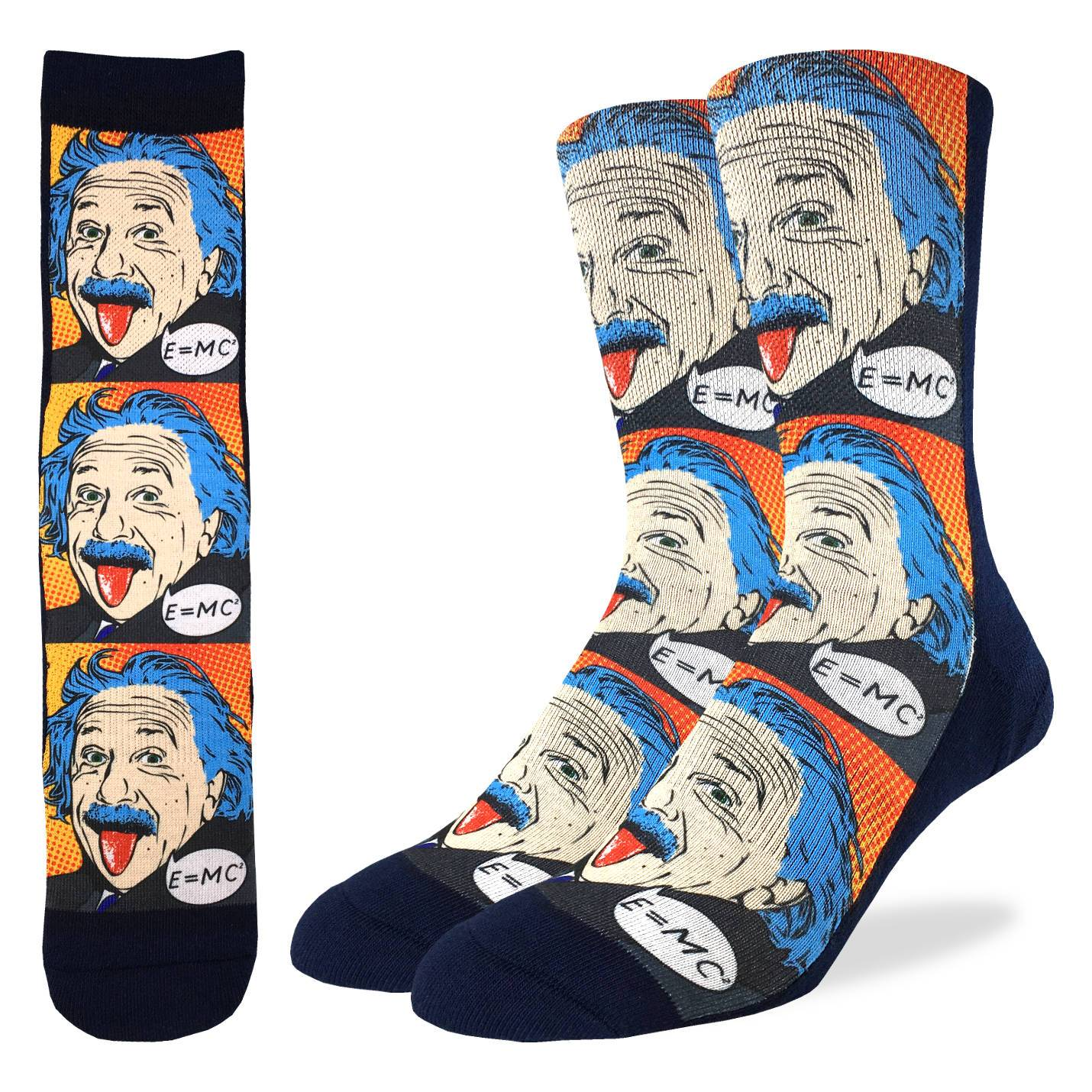 Men's Einstein Pop Art Socks - Good Luck Sock