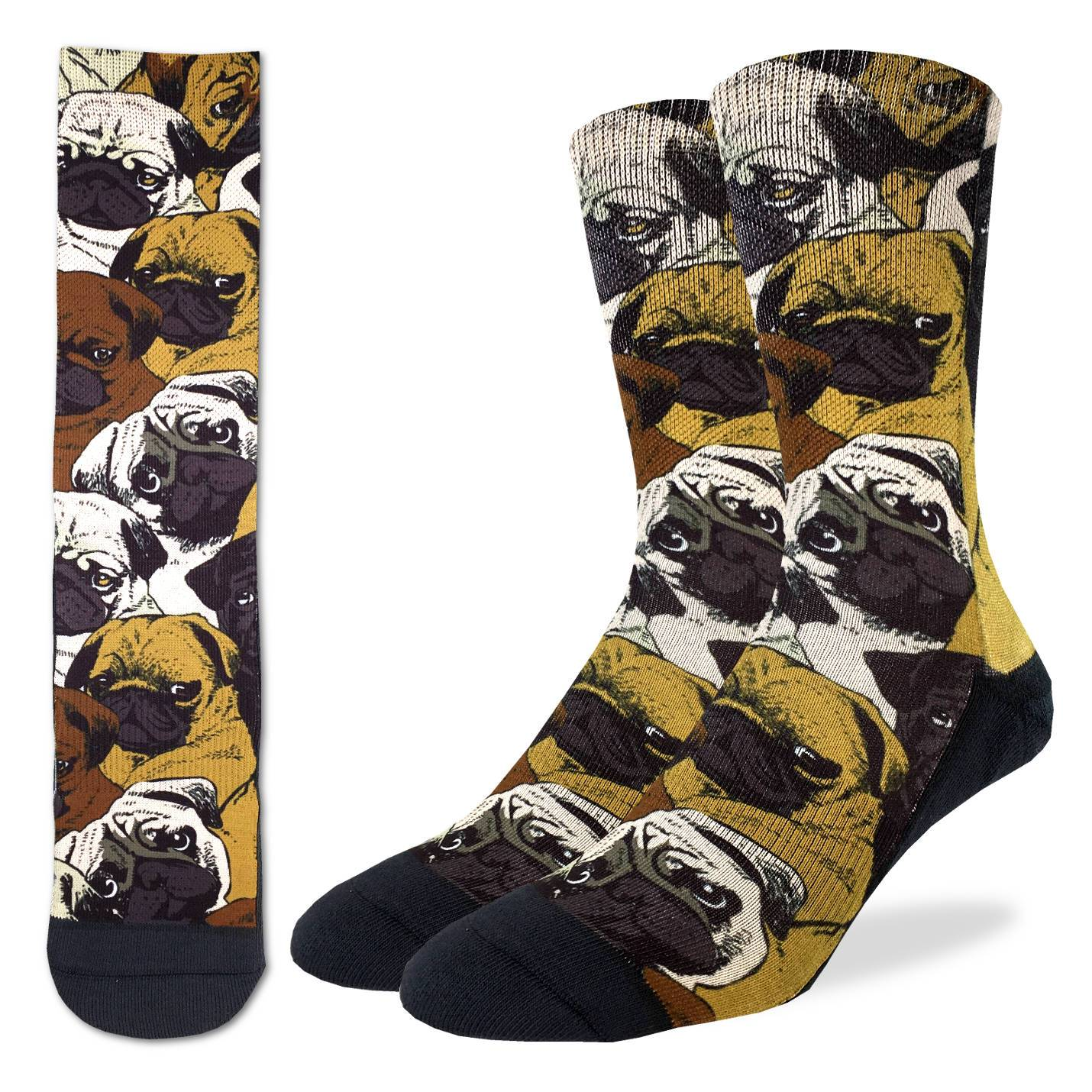 Men's Social Pugs Socks - Good Luck Sock