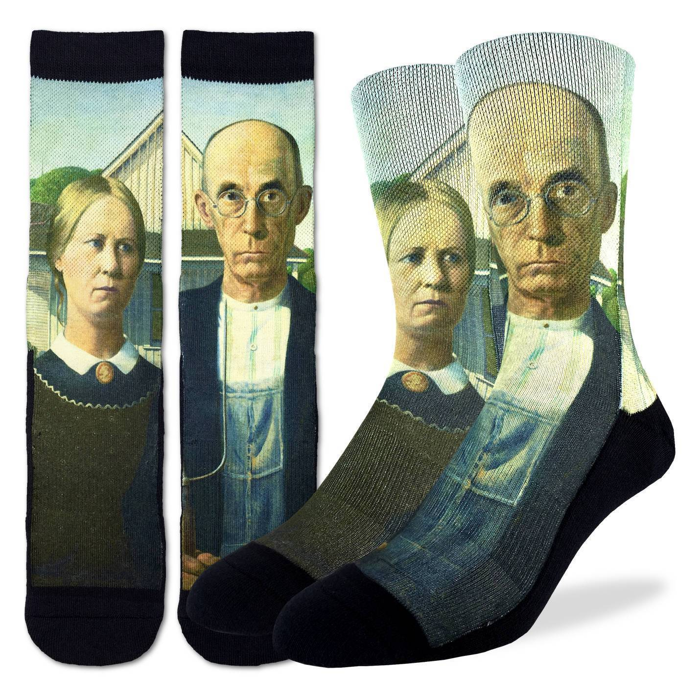 Men's American Gothic Socks - Good Luck Sock