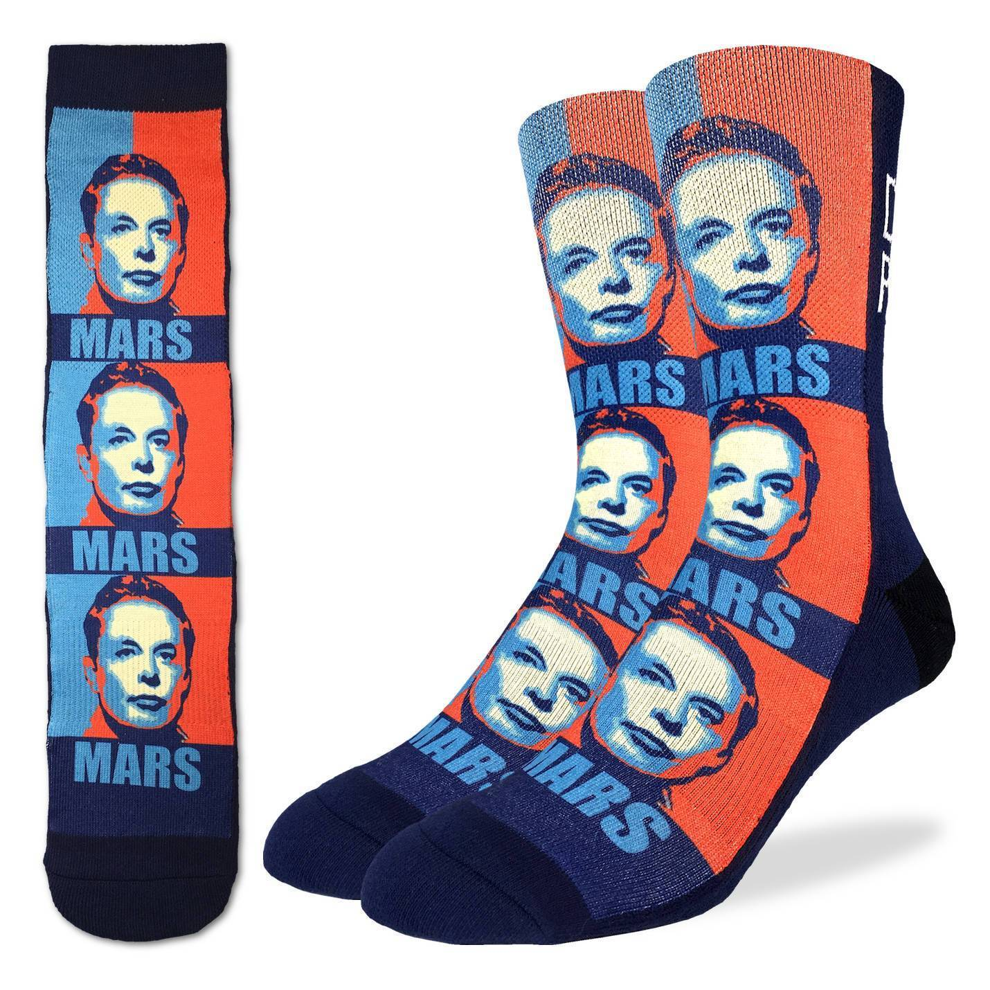 Men's Elon Musk Socks - Good Luck Sock