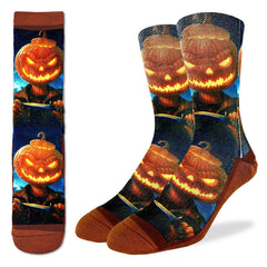 Men's Evil Pumpkin Socks - Good Luck Sock