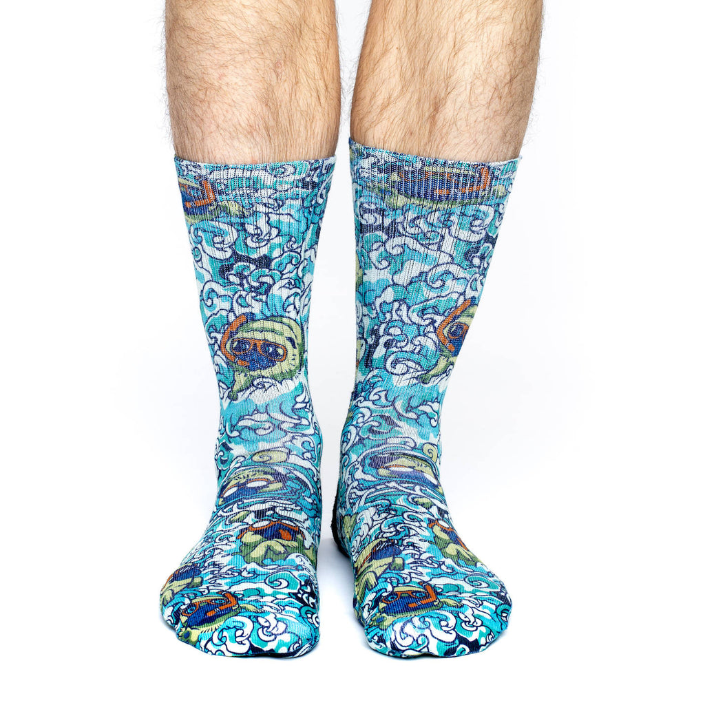 Men's Swimming Pugs Socks