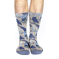 Men's Coffee Raven Socks - Good Luck Sock