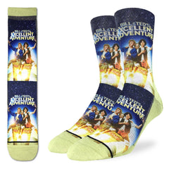 Men's Bill & Ted's Excellent Adventure Socks - Good Luck Sock