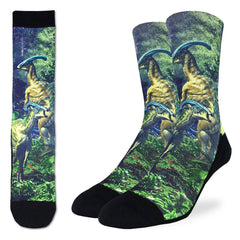 Men's Duckbilled Dinosaur Socks - Good Luck Sock