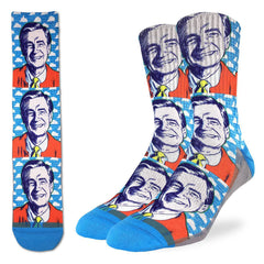 Men's Mister Rogers Pop Art Socks - Good Luck Sock