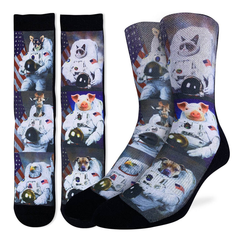 Men's Animals Dressed Up As Astronaut Socks