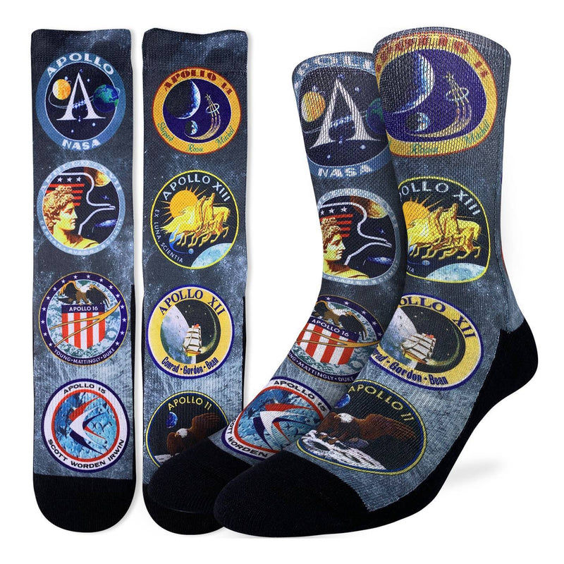 Men's Apollo Mission Patches Socks