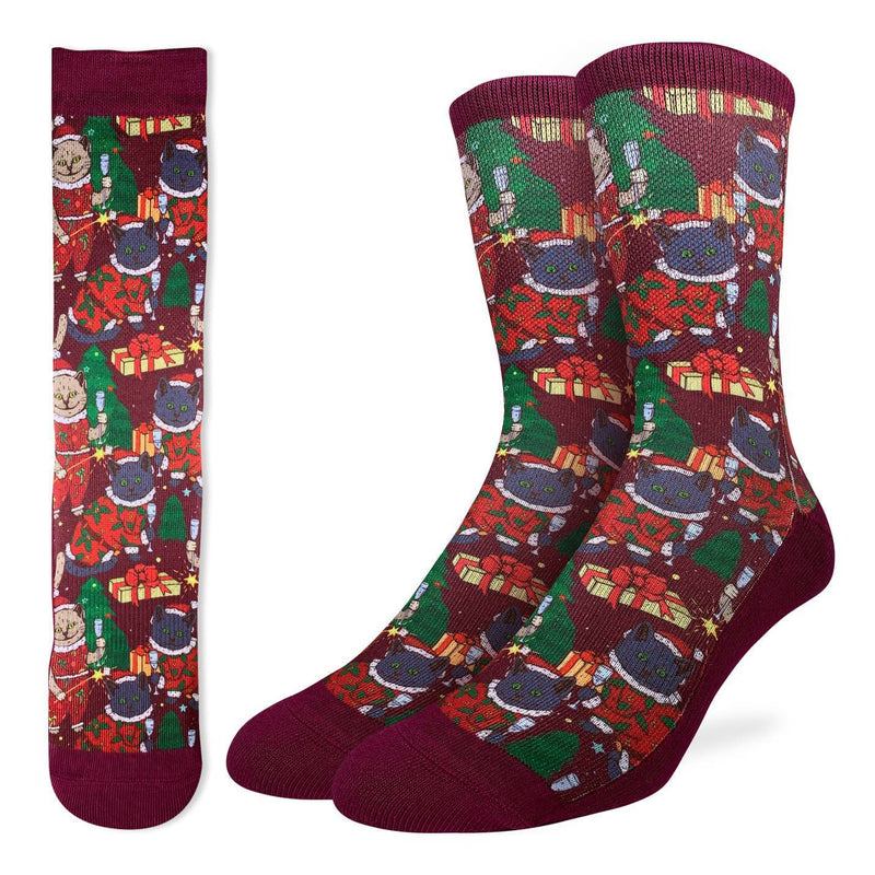 Men's Christmas Cats Socks