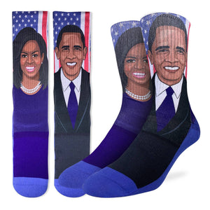 Men's Michelle & Barack Obama Socks