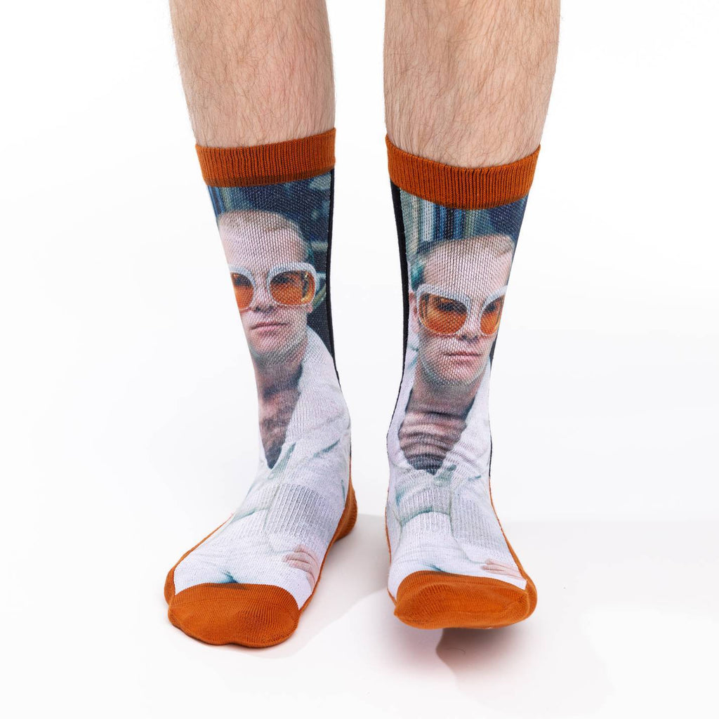 Men's Elton John in White Jacket Socks