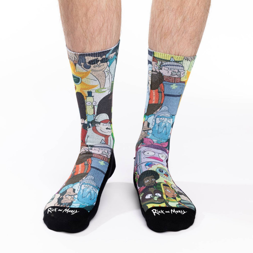 Men's Rick and Morty Characters Socks