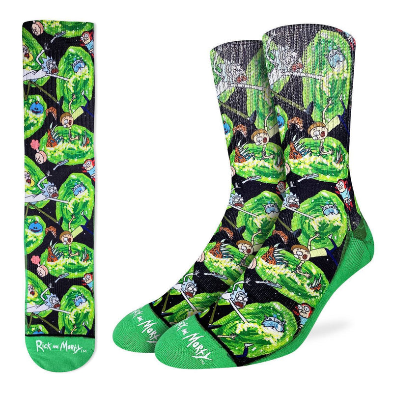 Men's Rick and Morty Wormholes Socks
