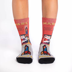 Women's Mars or Bust Socks - Good Luck Sock