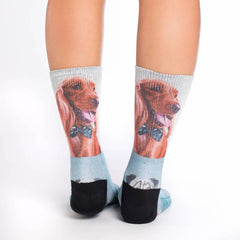Women's Dashing Dogs Socks - Good Luck Sock