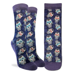 Women's Sugar Skulls Socks - Good Luck Sock