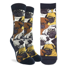 Women's Social Pugs Socks - Good Luck Sock
