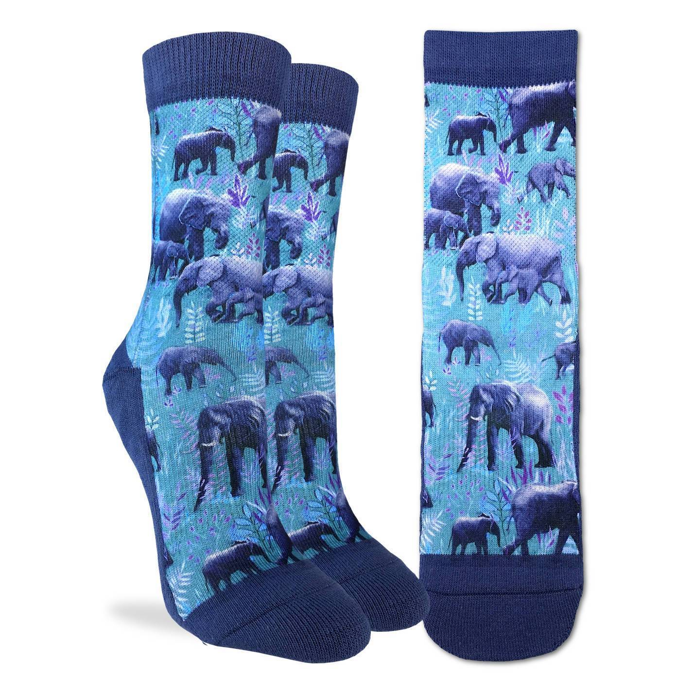 Women's Herd of Elephants Socks - Good Luck Sock