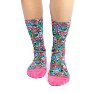 Women's Pugs & Flamingos Socks