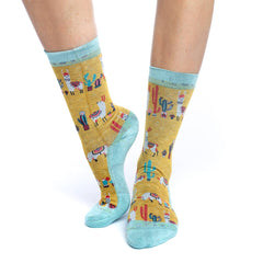 Women's Llamas Socks - Good Luck Sock