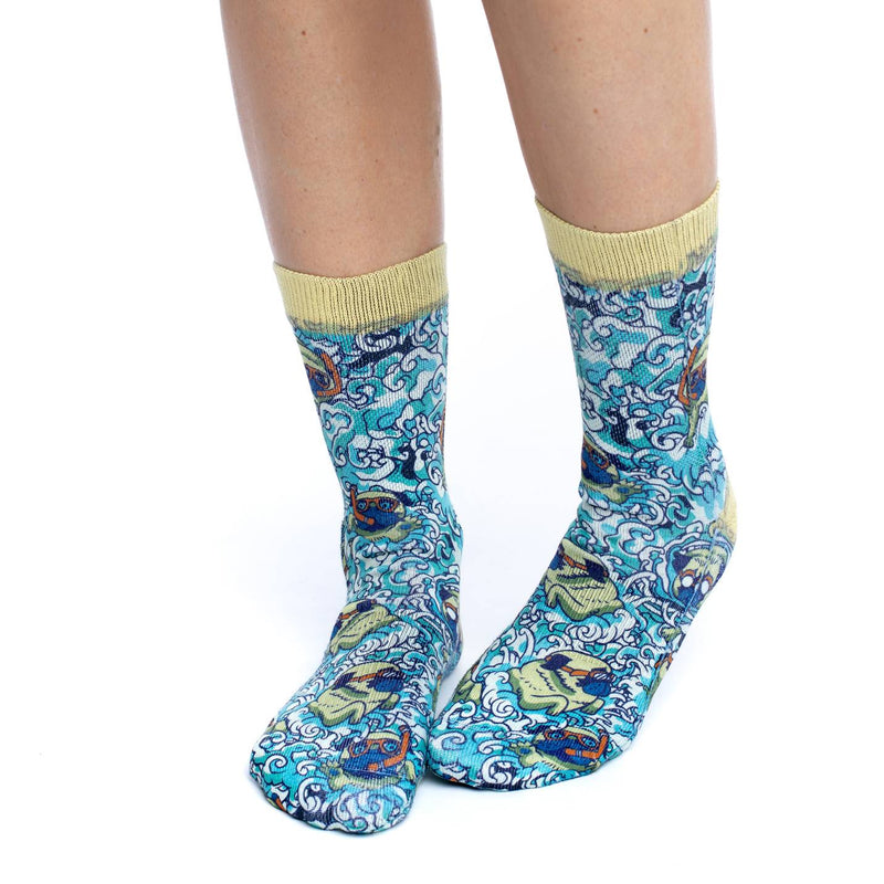 Women's Swimming Pugs Socks