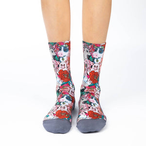 Women's Floral Farm Socks