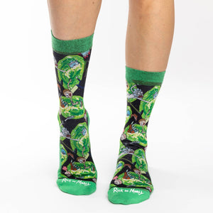 Women's Rick and Morty Wormholes Socks