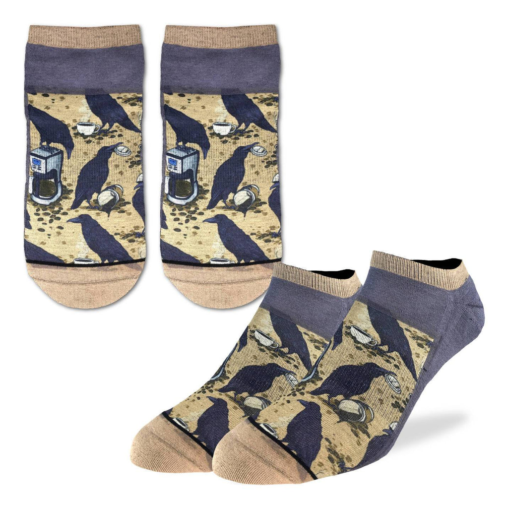 Men's Coffee Crow Ankle Socks