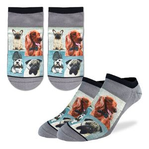 Men's Dashing Dogs Ankle Socks