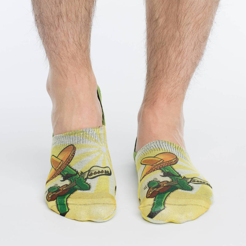 Men's Cactus Guitar No Show Socks